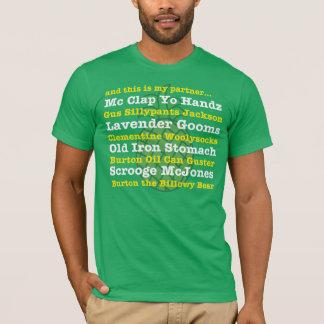 そしてこれはです私のパートナー… GUSのニックネームのティー Tシャツ