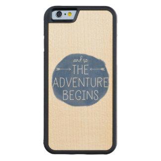 そしてそう冒険はiPhoneの場合を始めます CarvedメープルiPhone 6バンパーケース