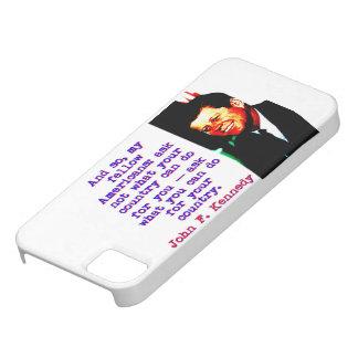 そしてそう親愛なるアメリカ国民- John Kennedy iPhone SE/5/5s ケース