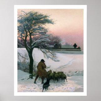 そしてディックは羊飼い彼のネイル1886年を吹きます ポスター