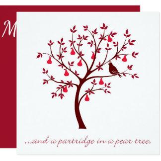 そしてナシ木のヤマウズラ カード