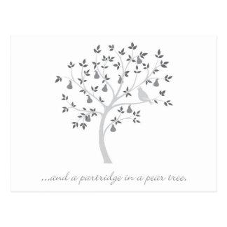 そしてナシ木のヤマウズラ ポストカード