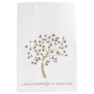 そしてナシ木のヤマウズラ ミディアムペーパーバッグ