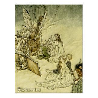 そして妖精の歌-アーサーRackham ポストカード