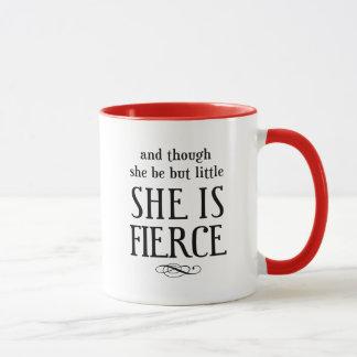 そして彼女が少しあるが、けれども、彼女は激しいです マグカップ