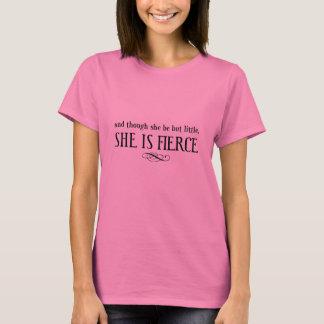 そして彼女が少しあるが、けれども、彼女は激しいです Tシャツ
