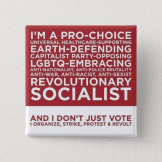 そして私はどうしても投票しません 5.1CM 正方形バッジ