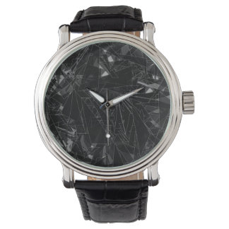 そして…何も。 腕時計[黒によって粉砕されるガラスのように] 腕時計