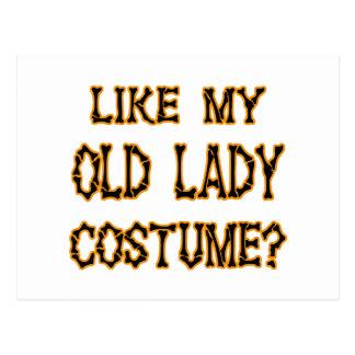 そっくりのハロウィン私の老婦人の衣裳 ポストカード