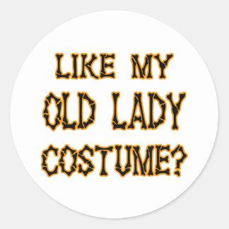 そっくりのハロウィン私の老婦人の衣裳 丸型シール