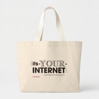 そのあなたのインターネット ラージトートバッグ