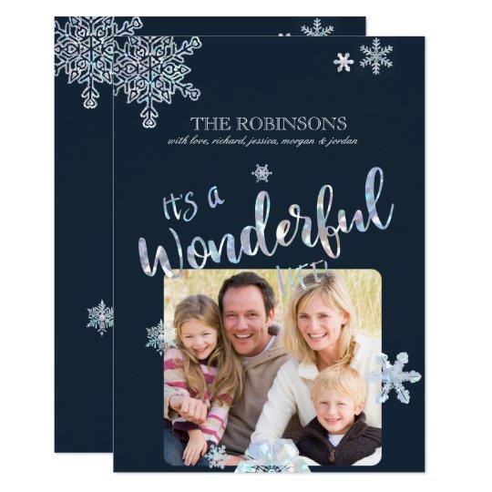 そのすばらしい生命クリスマスの写真カード カード