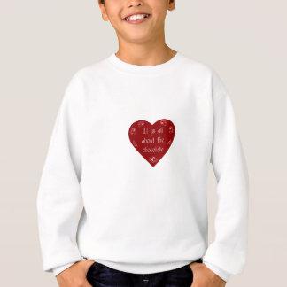そのすべてに約チョコレートバレンタインのワイシャツ スウェットシャツ