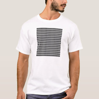 そのすべてに約0000 (黒い文字) Tシャツ