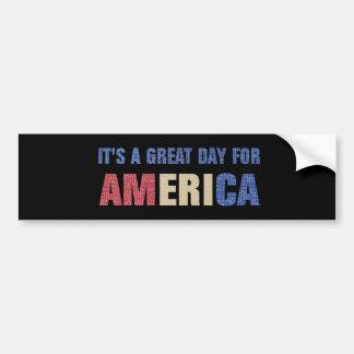 そのアメリカのためのすばらしい日 バンパーステッカー