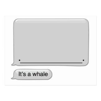 そのクジラ ポストカード