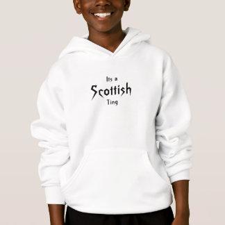 そのスコットランドの鈴の音のフード付きスウェットシャツ