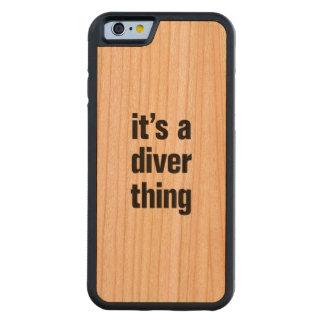 そのダイバーの事 CarvedチェリーiPhone 6バンパーケース
