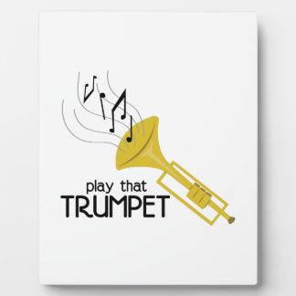 そのトランペットを演奏して下さい フォトプラーク