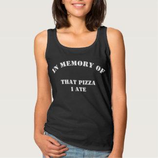 そのピザを記念して私は食べました タンクトップ