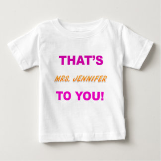 その夫人JENNIFER.png ベビーTシャツ