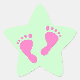 その女の子-生まれたばかりのなベビーシャワー 星シール