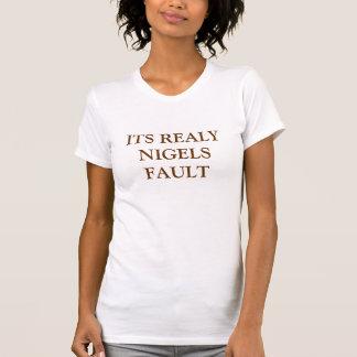 その実際にNIGELSの欠陥 Tシャツ