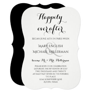 その後ずっと幸福にポストの結婚披露宴 カード
