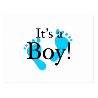 その男の子-生まれたばかりのなベビーお祝い ポストカード