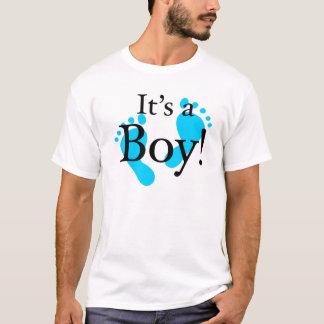 その男の子-生まれたばかりのなベビーお祝い Tシャツ