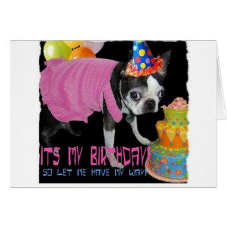 その私の誕生日 カード