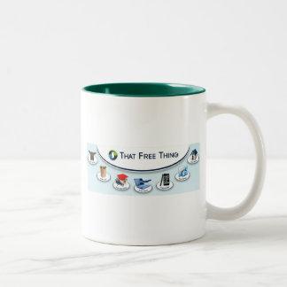 その自由な事 ツートーンマグカップ