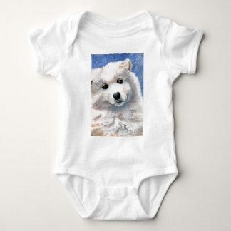その顔の子犬の乳児のクリーパーを見て下さい ベビーボディスーツ