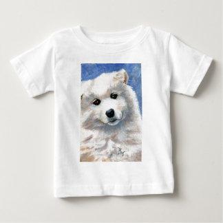その顔の子犬の乳児のTシャツを見て下さい ベビーTシャツ