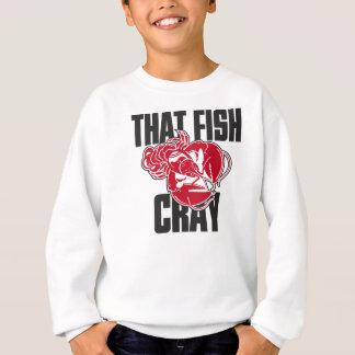 その魚Cray スウェットシャツ
