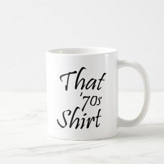 その70年代のワイシャツ コーヒーマグカップ