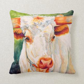 そばかす-長角牛の雌牛牛枕 クッション