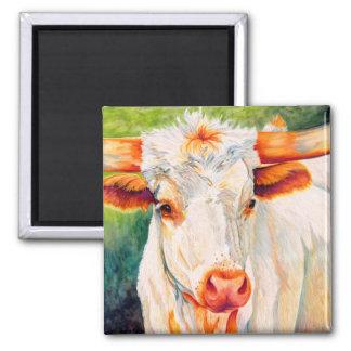 そばかす-長角牛の雌牛牛磁石 マグネット