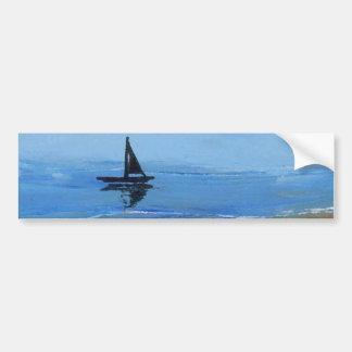 そよ風-想像の船--を航海します バンパーステッカー