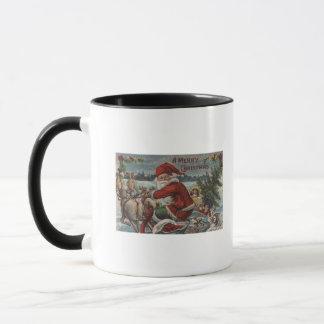 そりのクリスマスGreetingSanta マグカップ