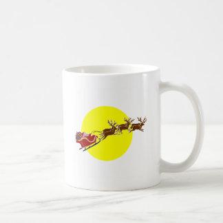 そりのサンタ コーヒーマグカップ