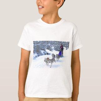 そりのドッグレース Tシャツ