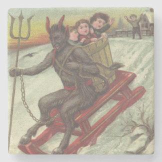 そりの干し草用フォークのKrampusの誘拐の子供 ストーンコースター