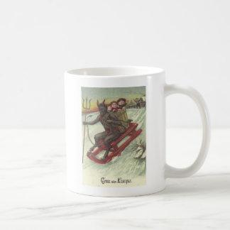 そりのKrampusの誘拐の子供 コーヒーマグカップ