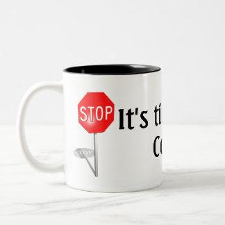 、それあります休憩の時間がストップ! ツートーンマグカップ