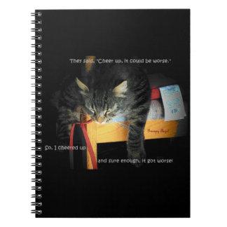 それがより悪いことができる子猫を元気づけて下さい ノートブック