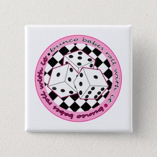 それが付いているBuncoの可愛い人ロール-ピンク 5.1cm 正方形バッジ