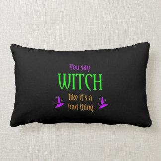それが悪い事の枕であるように魔法使いを言います ランバークッション