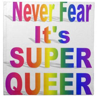 それが極度の変なゲイプライドRauinbowであることを決して恐れないで下さい ナプキンクロス