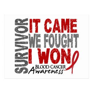 それが私達を来た血液の癌の生存者によっては私が勝ちました戦いました ポストカード